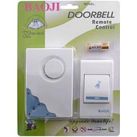 Дверной звонок Baoji 307 DC: радиус действия радиочастоты 100 м, звонок 9,1x6,1 см, кнопка 8х4,4 см