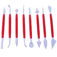 Набор инструментов для лепки стеки 8 шт (двухсторние 16 шт)