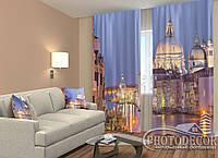 """ФотоШторы """"Вечірня Венеція"""" 2,5 м*2,6 м (2 полотна по 1,30 м), тасьма"""