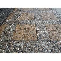 Тротуарная плитка «Квадрат-эко» Базальт черный