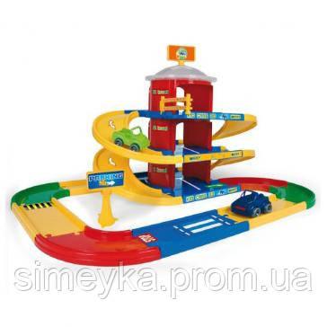 Детская парковка Wader Kid Cars 3D, 3 этажа с дорогой 4,6 м