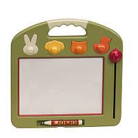 """Развивающие и обучающие игрушки «Battat» (BX1201Z) доска для рисования """"Рафаэль"""", 4 штампа (оливковая)"""