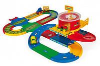 Игрушечный вокзал Wader Kid Cars с дорогой 5 м