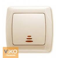 Выключатель с подсветкой крем Viko (Вико) Carmen (90562019)