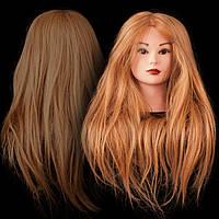 Учебная голова манекен для причесок и плетения, 75-80 см, золотистый , фото 1