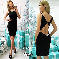 Платье с украшением на спине 4-54 (цвета)