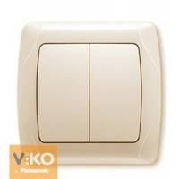 Выключатель двойной крем Viko (Вико) Carmen (90562002)
