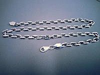 Серебряная цепь Якорь на 100 грамм.