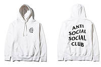 "Толстовка с принтом A.S.S.C. ""Anti Social Social Club Games"" | Худи белая"
