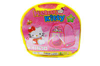 Палатка 333-40 Hello Kitty: влагостойкий текстиль, самораскрывающаяся, 80х80х100 см