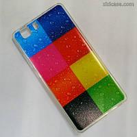 Силиконовый чехол с рисунком для Doogee X5/ X5 Pro (Цветные квадраты)