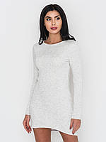 Облегающее женское платье на флисе из трехнитки без застежек 90218/1, фото 1
