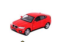 Машинка металлическая BMW X6 Kinsmart Красный