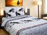 Постельное белье ТЕП 821 «Коты» бязь евро размер, 200х210