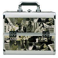 Алюминиевый кейс для косметики, цвет- журнальный принт 3#