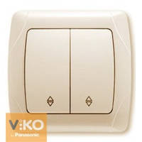 Выключатель двойной проходной крем Viko (Вико) Carmen (90562017)