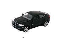Машинка металлическая BMW X6 Kinsmart Черный