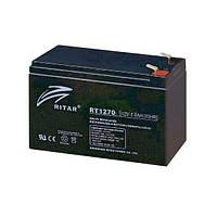 Аккумуляторная батарея AGM RITAR RT1270B, 12В - 7А/ч