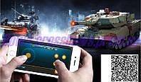 Танк на радиоуправлении через Bluetooth c танковым боем 1:36