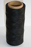 Нить вощёная плоская 1 мм чёрная