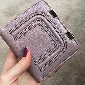 Мини кошелек женский кожаный розовый
