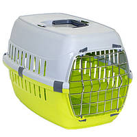 Moderna МОДЕРНА РОУД-РАННЕР 1 переноска для собак и кошек, с металлической дверью, 51х31х34 см, ярко-зеленый
