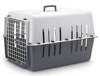Savic ПЭТ КЭРРИЕР4 (Pet Carrier4) переноска для собак, пластик, темно-серый, 66Х47Х43 см