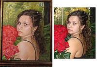 Портрет маслом на заказ, подарки к праздникам, картины маслом