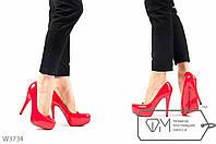Лаковые туфли на шпильке и платформе с красной подошвой 35 36 39
