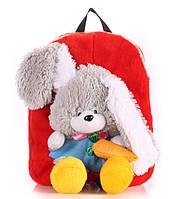 Рюкзак с зайцем красный Рoolparty
