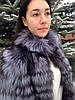 Шуба-трансформер з хутра фінської чорнобурки (розпуск) 75 см
