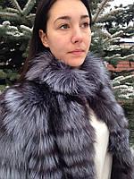 Шуба-трансформер из меха финской чернобурки (роспуск) 75 см, фото 1