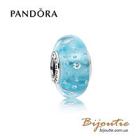 Шарм Pandora БИРЮЗОВОЕ МУРАНО 791618CZ серебро 925 Пандора оригинал