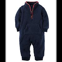 Человечек флисовый для мальчика Carters шерпа синий