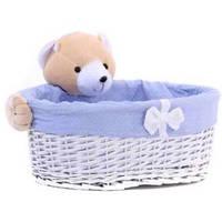 Плетеная овальная корзинка Мишка