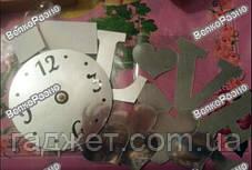 """Часы-аппликация зеркальные """"LOVE"""". Настенные часы. Часы., фото 2"""