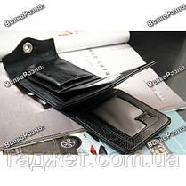 Мужской бумажник кошелек портмоне Wobu jeans черного цвета., фото 3