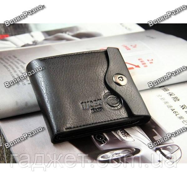 Мужской бумажник кошелек портмоне Wobu jeans черного цвета.