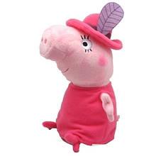 Мягкая игрушка «Peppa Pig» (29625) Мама Свинка в шляпе, 30 см