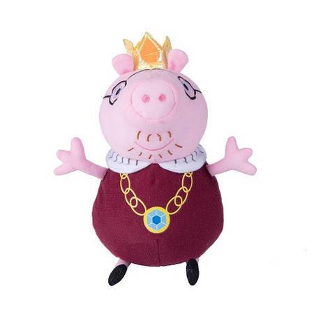 М'яка іграшка «Peppa Pig» (31154) Папа Свин король, 30 см, фото 2
