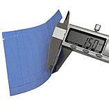 Термопрокладка СР 1,5 мм 20х20 синя форматна термо прокладка термоінтерфейс для ноутбука термопаста, фото 3