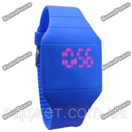 Мужские сенсорные часы синего цвета., фото 2