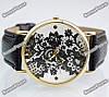 Женские часы Geneva Lace черного цвета