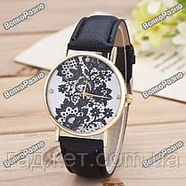 Женские часы Geneva Lace черного цвета, фото 2