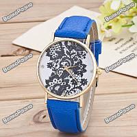 Женские часы Geneva Lace синего цвета