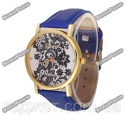 Женские часы Geneva Lace синего цвета, фото 2