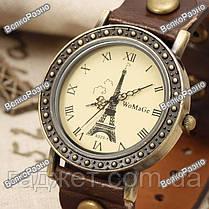 Женские часы WoMaGe с изображением Эйфелевой башни коричневого цвета, фото 3