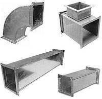 Воздуховоды и комплектующие из оцинкованной стали под заказ по индивидуальным размерам