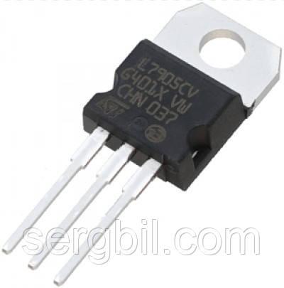 Микросхема L7905 ТО220- линейный стабилизатор -5В, 1,0А