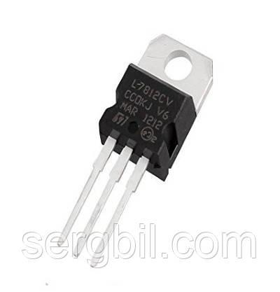 Микросхема L7812C ТО220 линейный стабилизатор 12В, 1,0А